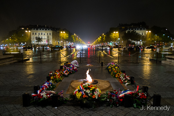 Eternal Flame at the Arc de Triomphe