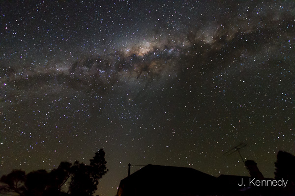 Look, you can actually see the stars. Don't see that in Sydney